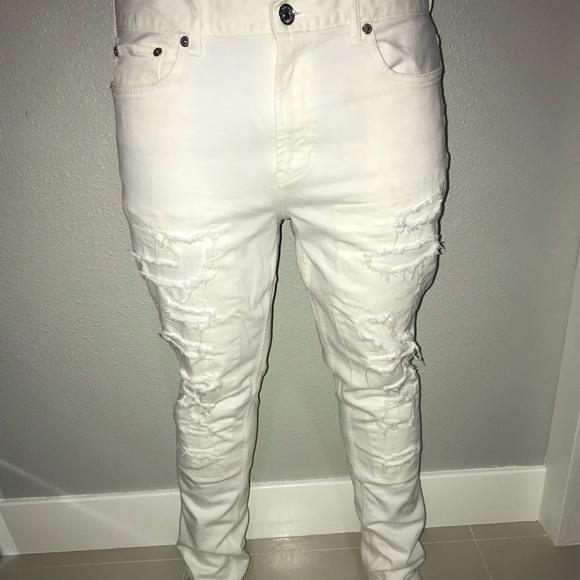 Men s ripped white jeans. M 5bfc54ac5c44529524e9affc b56f1e188fce